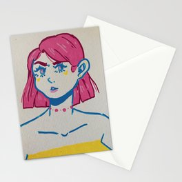 pan flag gal Stationery Cards