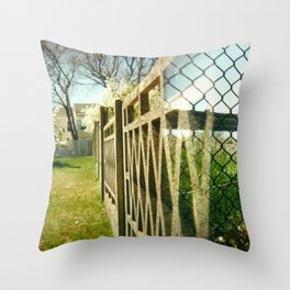 Two Fences Throw Pillow