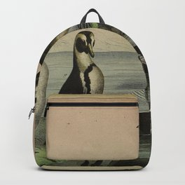030 mergus merganser Great Crested Grebe Great Northern Diver Black Guillemot Great Auk Atlantic Puffin aptenodytes impennis10 Backpack