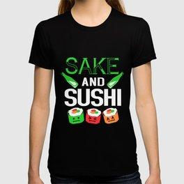 Sushi Sake Maki Kawaii Colorful Japanese Food T-shirt