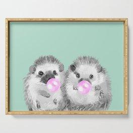 Playful Twins Hedgehog Serving Tray