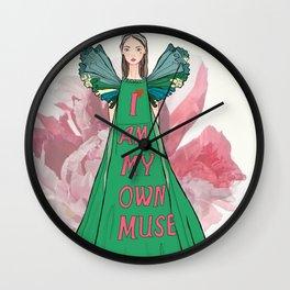 I am my own muse fashion illustration Wall Clock