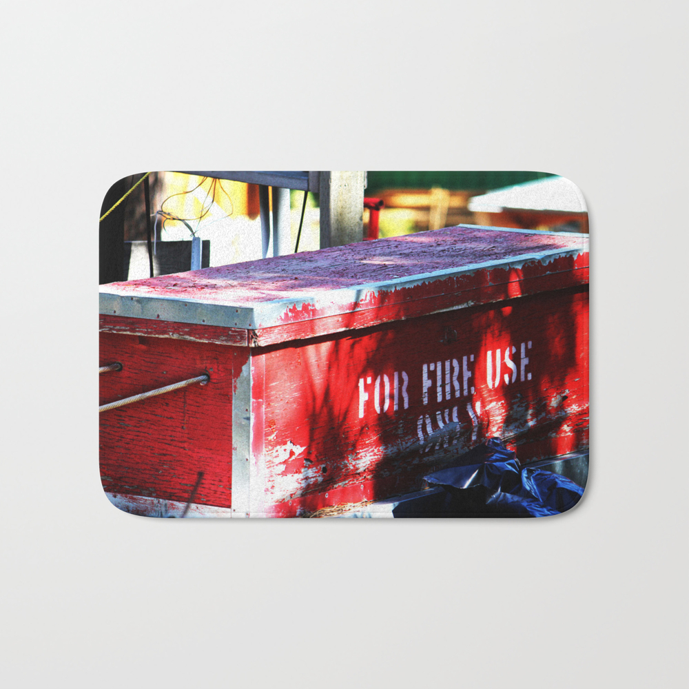For Fire Use Only Bath Mat by Jeffreyjirwin BMT7879205