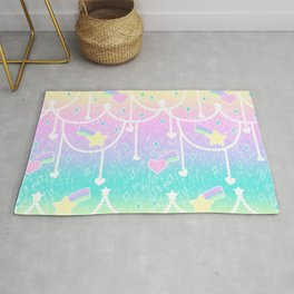 Beads and Stickers Rug