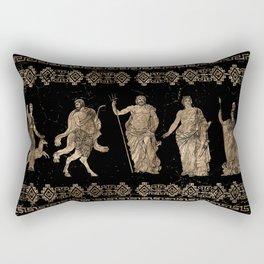Greek Deities and Meander key ornament Rectangular Pillow