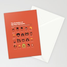 The Evolution Of Hip-Hop Hairstyles Stationery Cards