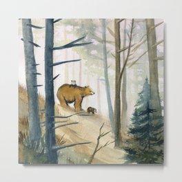 Bear Family 2 Metal Print