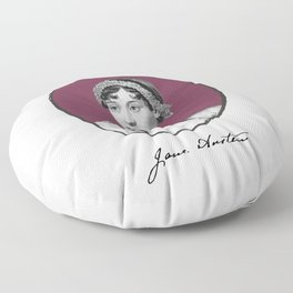 Authors - Jane Austen Floor Pillow
