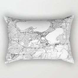 Madison White Map Rectangular Pillow