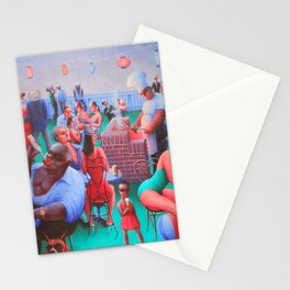 African American Masterpiece, Harlem Block Party by Archibald Motley Stationery Cards
