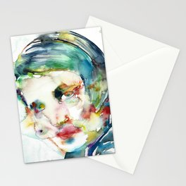 AYN RAND - watercolor portrait Stationery Cards