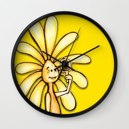 """""""Yellow"""" Color Chakra Flowerkid Wall Clock"""
