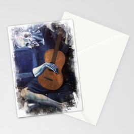 Pablo Picasso The Old Guitarrist 1903 Grunge Artwork Shirt, Reproduction Stationery Cards