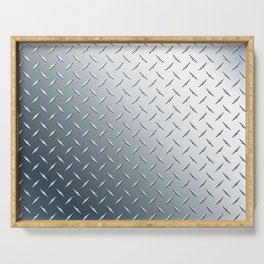 Diamond Plate Metal Pattern Serving Tray