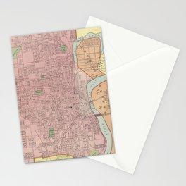 Vintage Map of Omaha Nebraska (1903) Stationery Cards