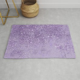 Modern elegant lavender lilac glitter marble Rug