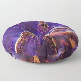 ALTERED Hubble Mystic Mountain- Carina Nebula Floor Pillow