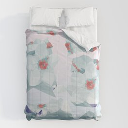 Sakura Floral Gradient Print Comforters