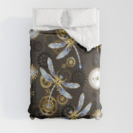 Steampunk Dragonflies Comforters