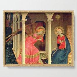 """Fra Angelico (Guido di Pietro) """"Annunciation of Cortona"""" Serving Tray"""