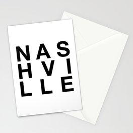 Nashville Art Print, Black and White, Nashville Poster, Travel Poster, Modern Art Print, Nashville, Typographic Art, Nashville Print, Housewarming, Moving Away, Travel Gift, Nashville Art Stationery Cards
