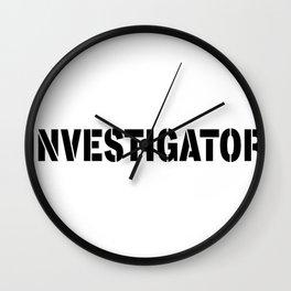 Easy Halloween Costume - Investigator Wall Clock
