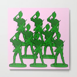 Barbie Army! Funny Barbie Pop Art! Metal Print