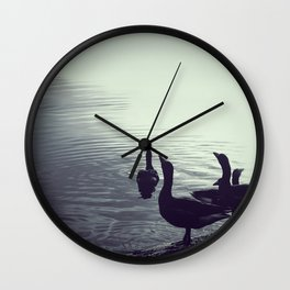 The goose song - Fine Arts Nature Photography Wall Clock