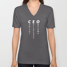 CEO - Capital Entrepreneur Outcome Unisex V-Neck