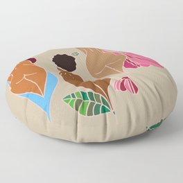 Pink, Curves, Cream, and Melanin Floor Pillow