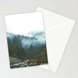 Into the foggy woods - Nature Landscape Photography Stationery Cards