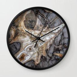 Petrified wood 3264 Wall Clock