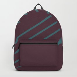 Deep Purple Aqua Stripe Diagonal Pattern Pairs 2021 Color of the Year Epoch and Whale Tail Backpack