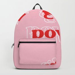Girl Power // in Pink Red Backpack