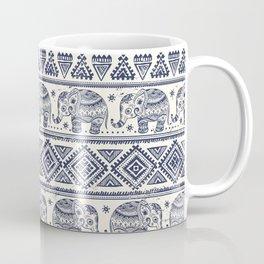 Vintage Elepant in Indian lotus ethnic illustration pattern Coffee Mug