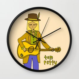 tom petty tribute // forever love your rock and roll soul Wall Clock