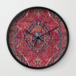 Bijar Kurdish Northwest Persian Rug Print Wall Clock