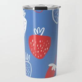Strawberry Summertime Patriotic  Travel Mug