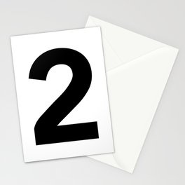 Number 2 (Black & White) Stationery Cards