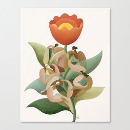 Blooming together  Canvas Print
