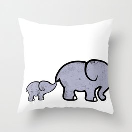 Elephant Big Boar Forest Giant Mammal Animal Gift  Throw Pillow