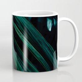 Dark Palm Leaves Coffee Mug