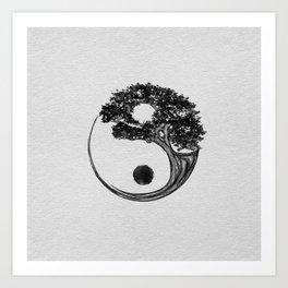 Yin Yang Tree Canvas Art Print