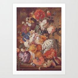 october still life *collage Art Print