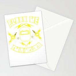 Flash me Im a welder Stationery Cards
