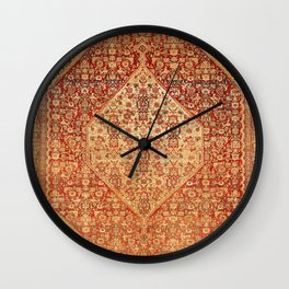 Sehna Saronim Kurdish Northwest Persian Rug Print Wall Clock