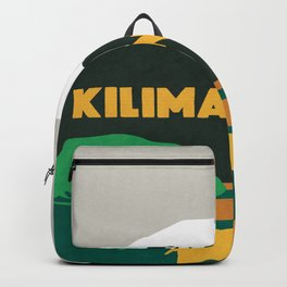 Kilimanjaro Tanzania, travel illustration Backpack