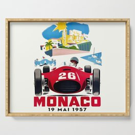 Classic Grand Prix Poster Serving Tray