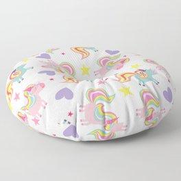 Rainbow Unicorn Pattern Floor Pillow
