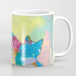 Colorful Abstract Cat #1 Coffee Mug